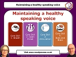 Webinar 10 Maintaining a Healthy Speaking Voice